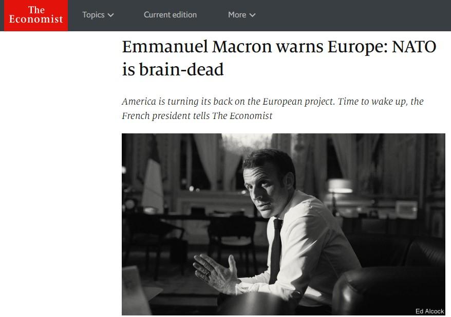 Макрон: НАТО има мозочна смрт, Европа на работ на бездна