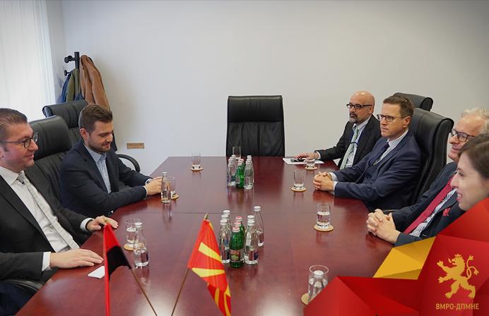 Мицкоски – Данијелсон: ВМРО-ДПМНЕ има план како да ја стави Македонија на брза траса за членство во Унијата