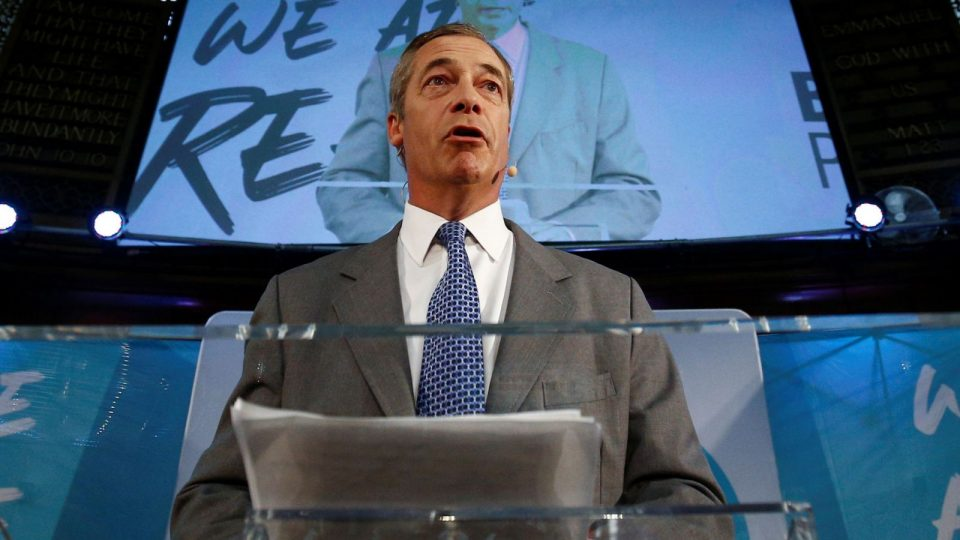 """Фарж не сака пакт со конзервативците, сака чист """"развод"""" со ЕУ"""