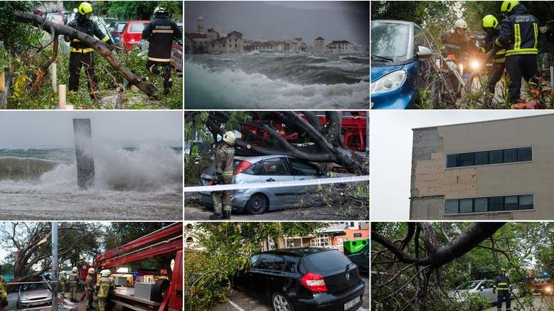 Големо невреме во Хрватска: Паднати стебла и силен ветер го блокираат сообраќајот