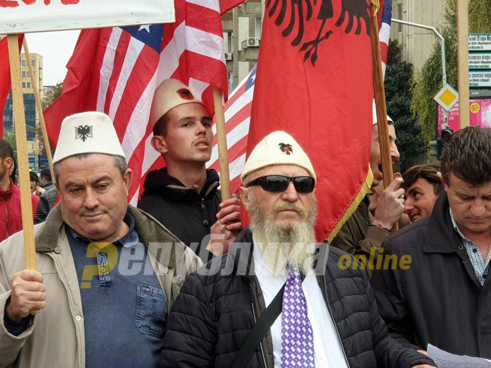 Ветерани на УЧК протестираа заедно со братот на Ел Чека против монтирани случаи
