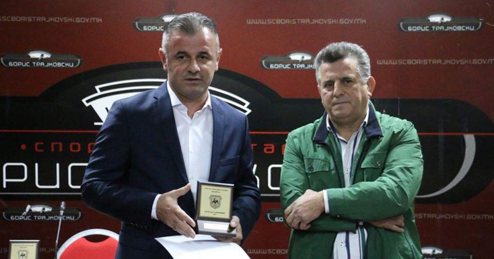 """Градоначалникот на Чаир добитник на наградата """"13 Ноември"""" од Сојузот на спортови"""