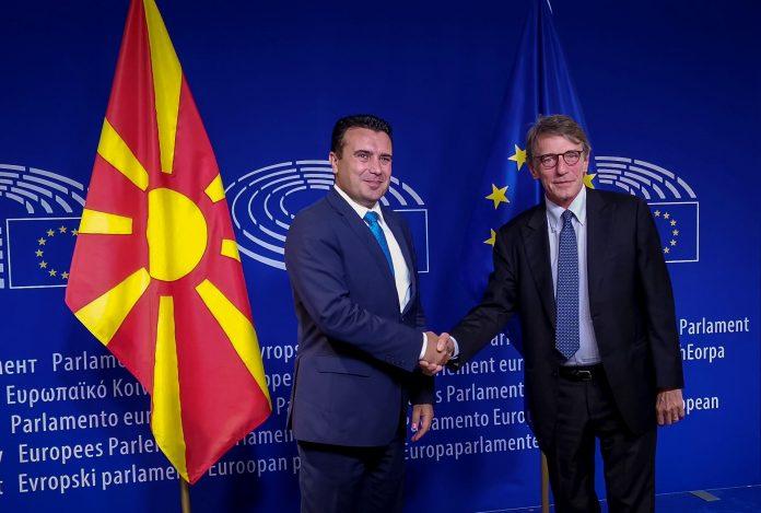 Претседателот на ЕП на средба со Заев, Пендаровски и Џафери