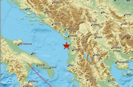 Вечерва уште еден земјотрес во Албанија, почувствуван и во Охрид