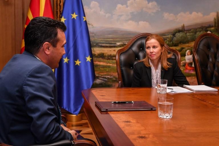 Средба на шефицата на мисијата на ММФ за Македонија со премиерот во заминување Заев