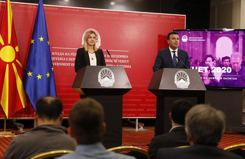 Буџетот за 2020 година e 3,9 милијарди евра