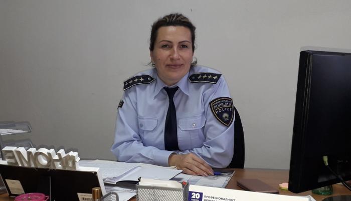 Зорица Вукановиќ – првата жена-командир на полициска станица во Македонија