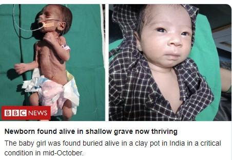 Се слушнал плач од сандакот: Предвреме родено дете во Индија живо закопано во гроб