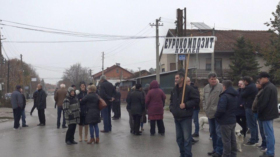 """Поради несериозниот однос на владата: Вработените во """"Еурокомпозит"""" повторно на протест"""