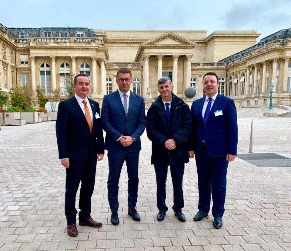 Во Париз ја пренесовме нашата порака дека владата на ВМРО-ДПМНЕ ќе се фокусира на исклучително квалитетни реформи