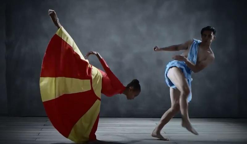 Елмас и македонското знаме на календарот на Наполи