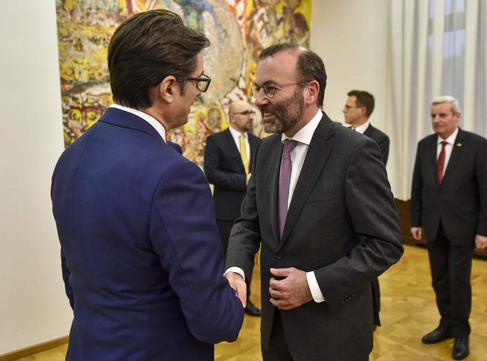 Средба на претседателот Пендаровски со европратеникот Манфред Вебер