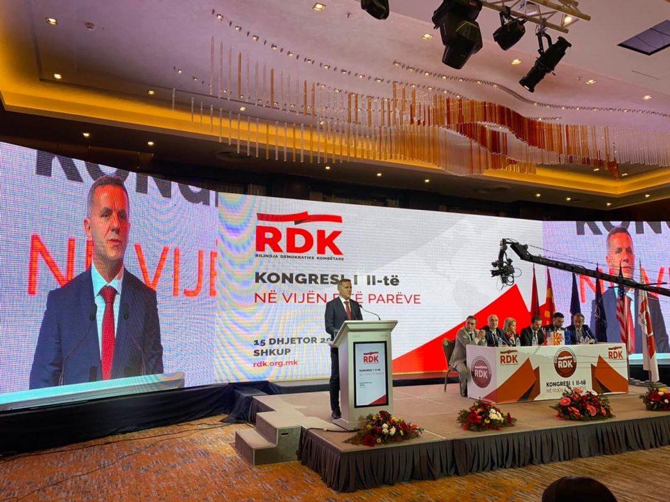 Заврши Вториот конгрес на НДП, Весел Мемеди избран за претседател