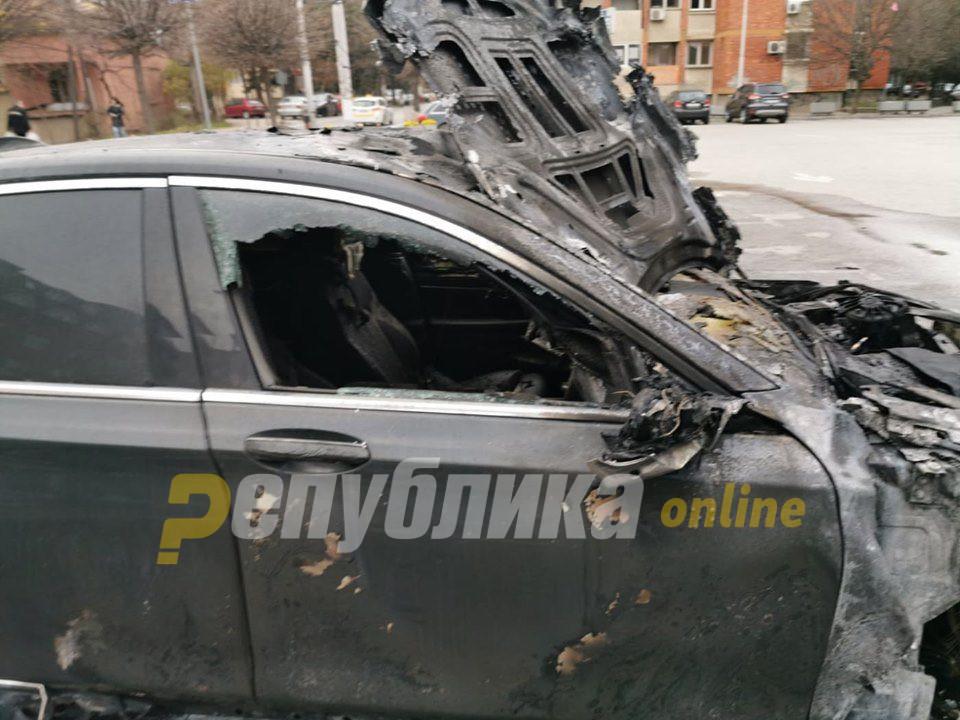 """Запалено """"БМВ"""" на скопски бизнисмен"""