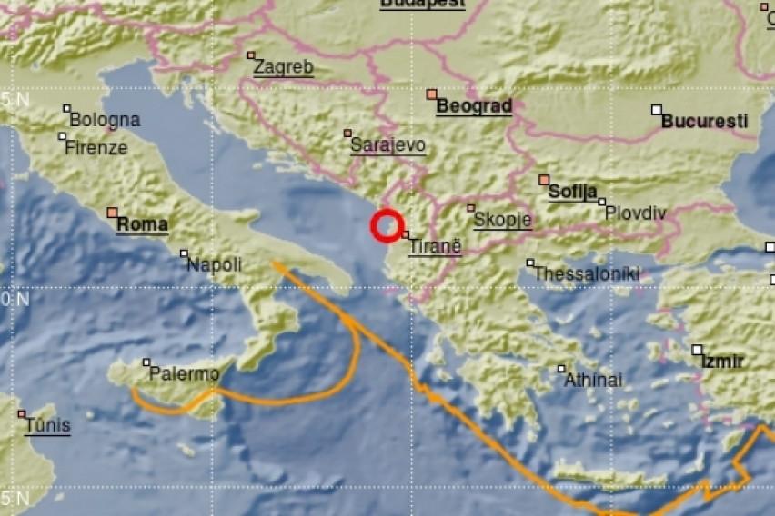 Силен земјотрес во Албанија од 4,5 степени, почувствуван и во Македонија