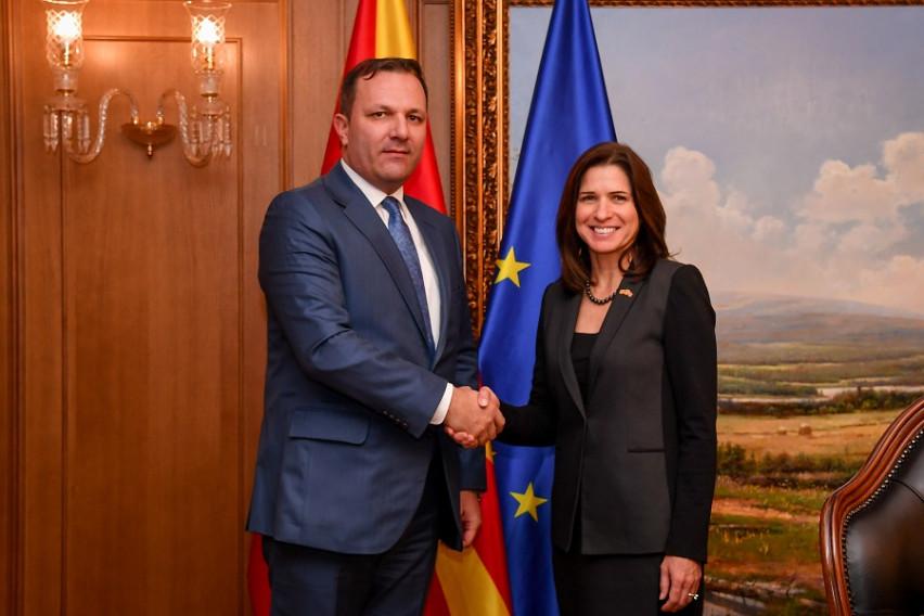 Спасовски на состанок со американската амбасадорка