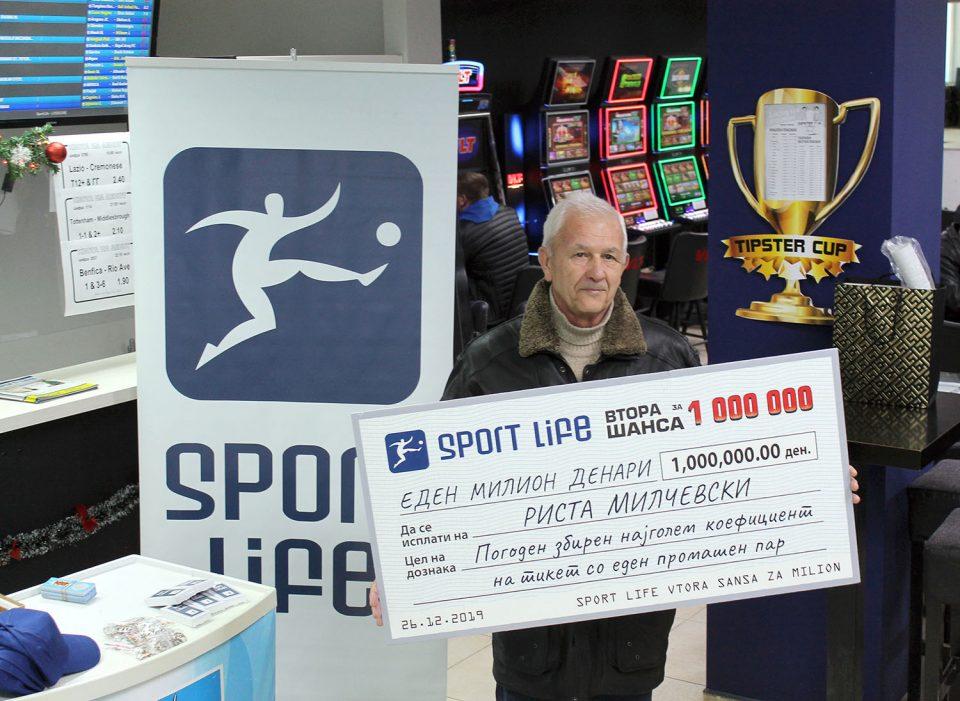 "Риста Милчевски доби 1. 000 000 денари и победи на ""Втора шанса за милион"" на Sport Life"