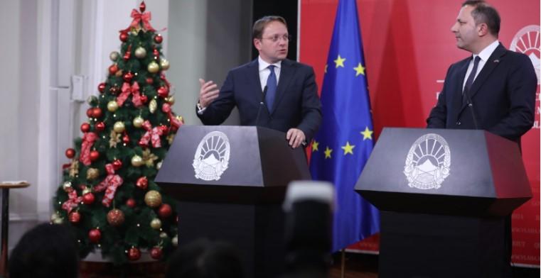 Вархеји: Ќе продолжи интеграцијата на Западен Балкан во ЕУ