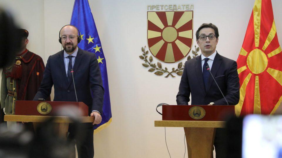 Пендаровски-Мишел: Иднината и судбината на Македонија е европска