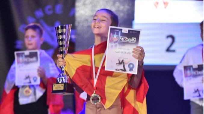 Анди Исмаили светски шампион во современ танц за деца