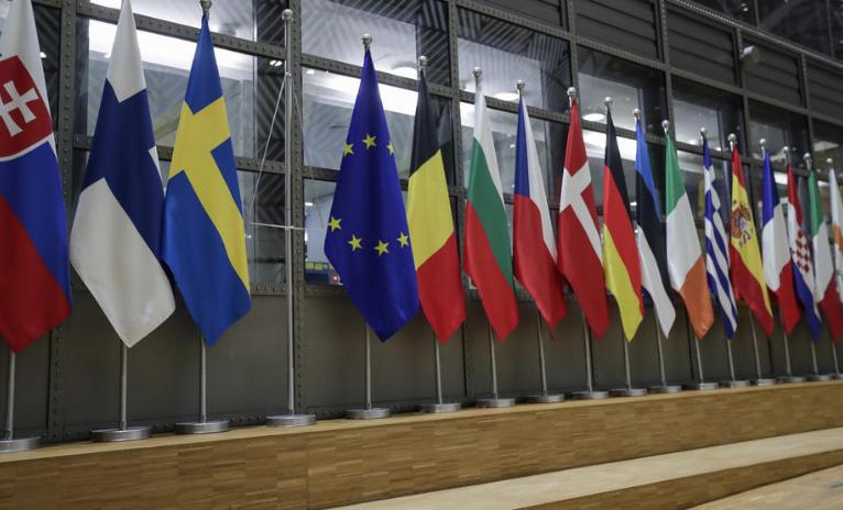 Британското знаме симнато од пред европските институции