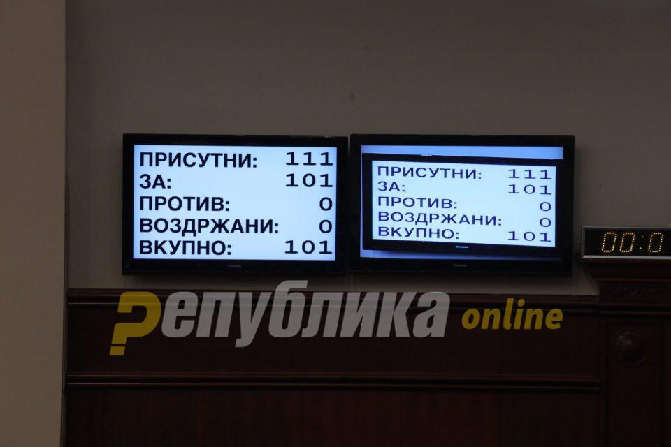 101 пратеник гласаа за техничката влада на Оливер Спасовски