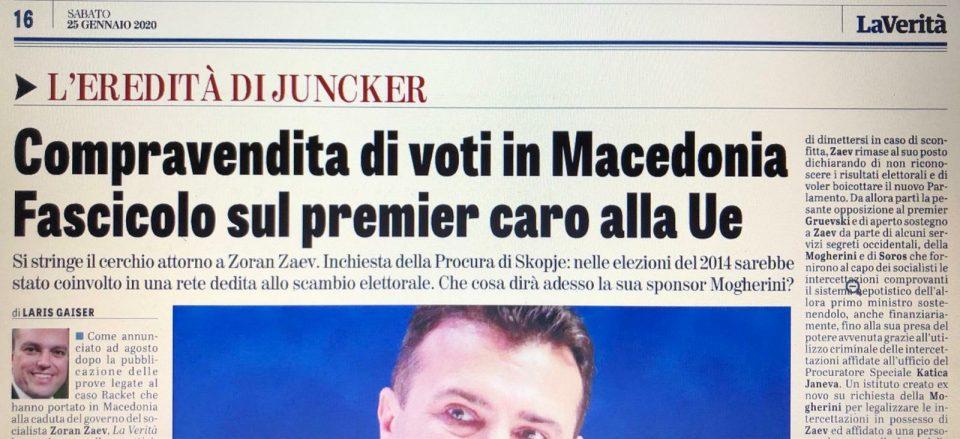 """""""Ла верита"""" најавува нов скандал: Зоран и Вице Заеви учествувале во купопродажба на гласови на изборите во 2014 година"""