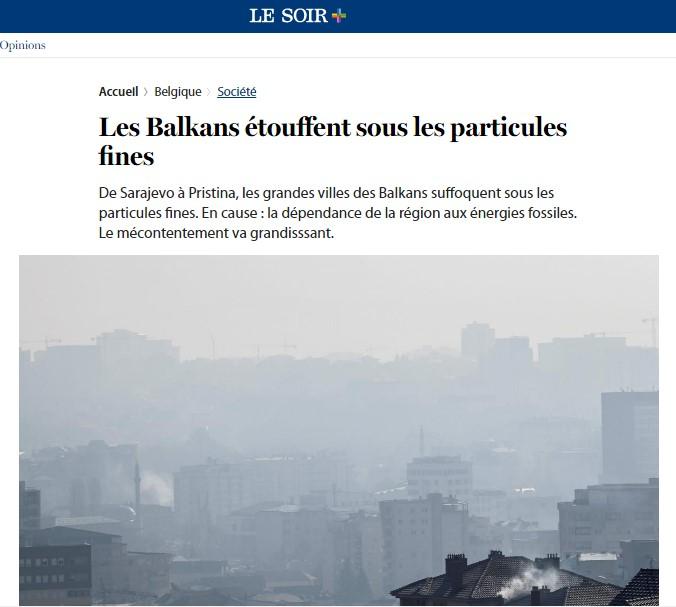 """""""Ле Соар"""": Аерозагадувањето на Балканот опасно и за ЕУ"""