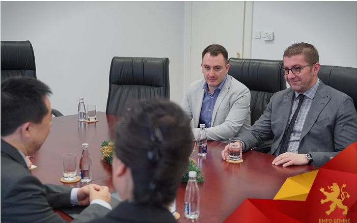 Мицкоски се сретна со кинескиот амбасадор во Македонија: Новата Влада предводена од ВМРО-ДПМНЕ ќе биде фокусирана на економски развој