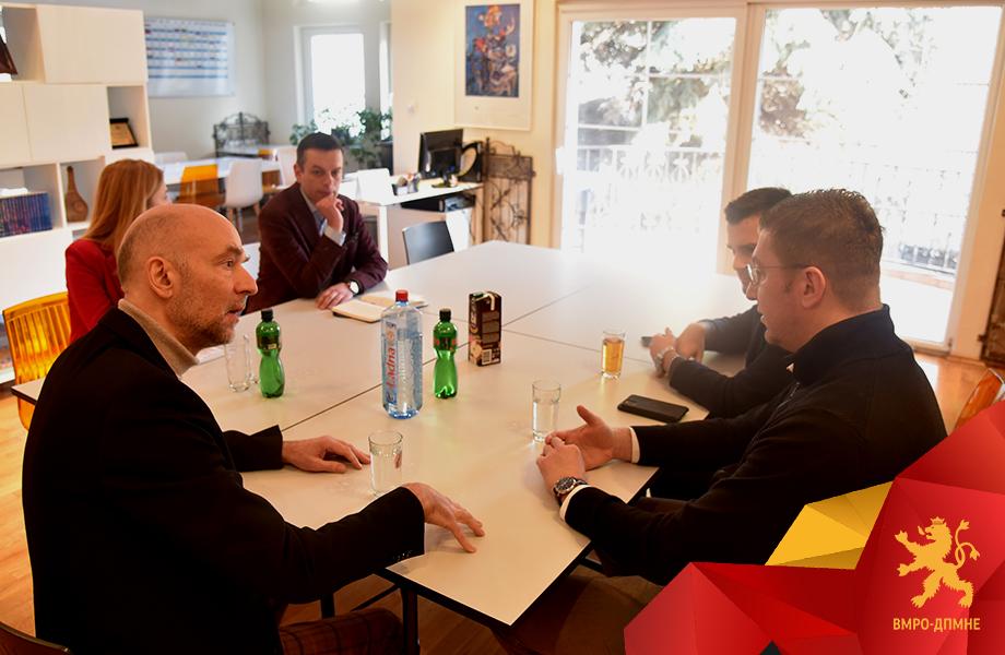 Мицкоски – Реј: Вмешаноста на високи државни и партиски функционери на СДСМ во коруптивни афери ја загрозуваат ЕУ-перспективата на Македонија
