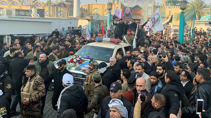 Во стампедото на погребот на генералот Сулејмани загинаа 35 лица, а 48 се повредени