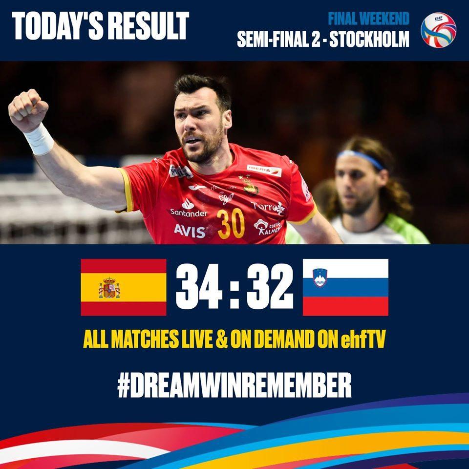 Шпанија ќе се бори со Хрватска за златниот медал на ЕП