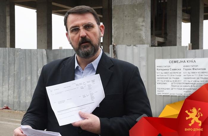 Стоилковски: Соседите ја викаат Касарната на Филипче, а ја градат Горан Филипов и Катерина Савевска, тештата на министерот за здравство
