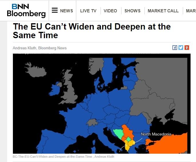 Предлог ЕУ да се подели на три зони – Македонија би била во најмалку интегрираниот дел