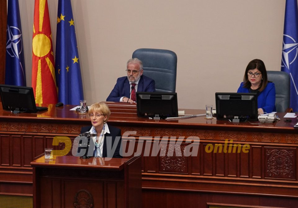 Лилјана Поповска од ДОМ го обезбедила последниот глас за Законот за ЈО