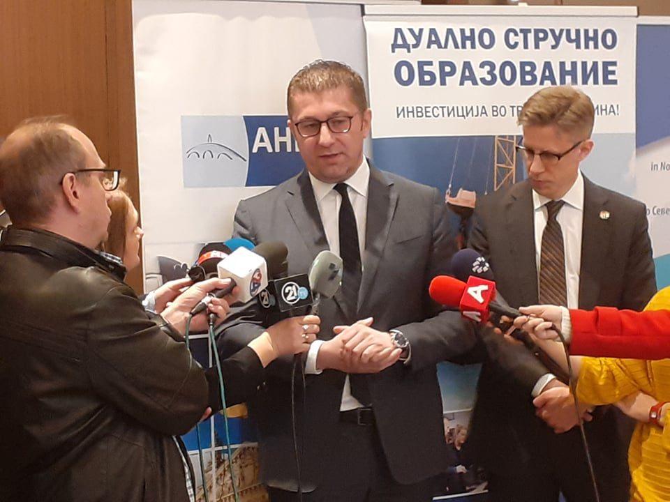 Мицкоски: Мали шансите за предизборно коалицирање со албанска партија