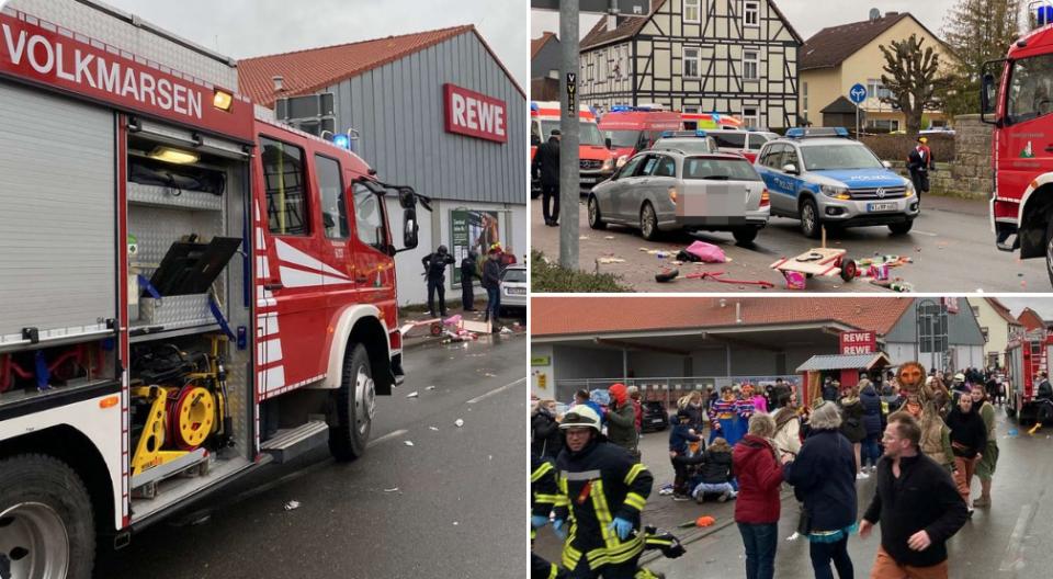 Најмалку 18 деца се повредени откако автомобил влетал во карневалската поворка во Волкмарсен