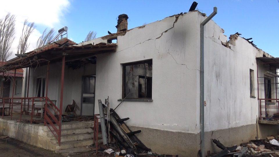 Тричлено семејство од Сенокос остана на улица по пожарот во нивната куќа