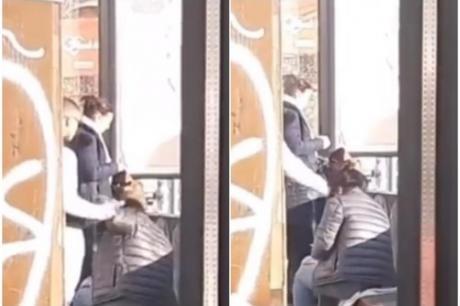 Во центарот на градот и никој не го спречи: Момче со шише удира девојка