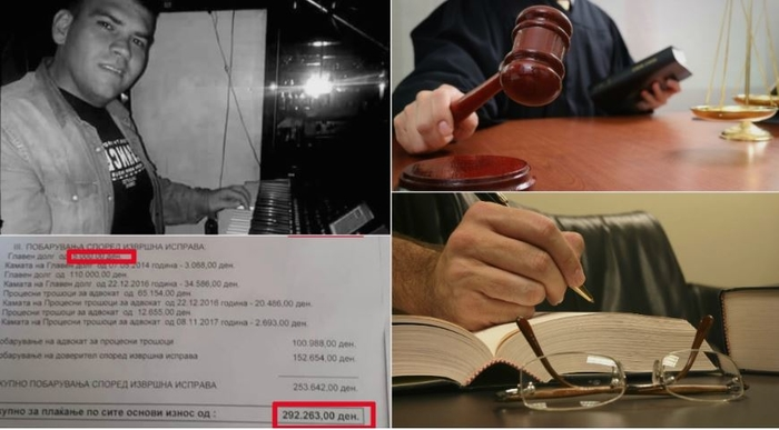 На македонски музичар за долг од 5.000 му стигнал налог за извршување од 292.263 денари, може да ја изгуби куќата