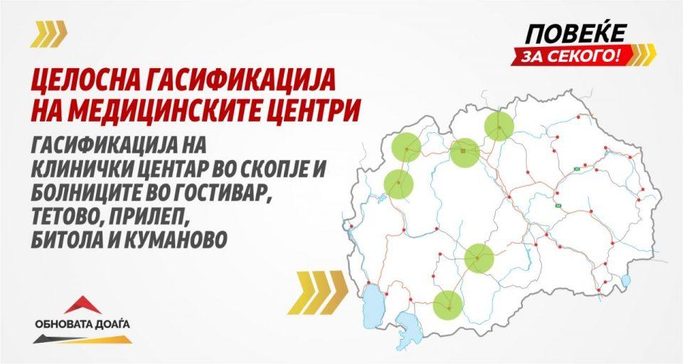 ВМРО-ДПМНЕ ќе ги гасифицира медицинските центри