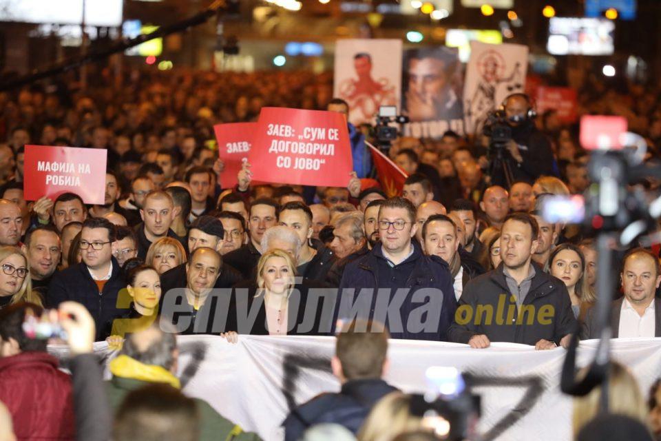 Мицкоски: На народот му е преку глава од погубни политики