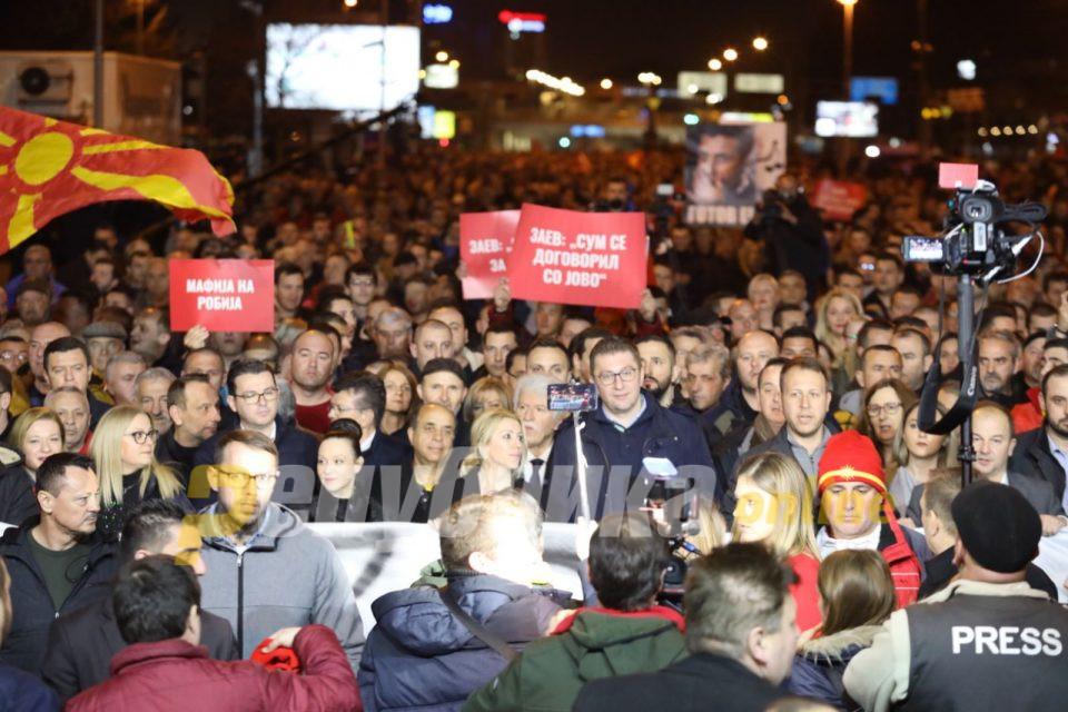 Скопје го поддржа Христијан Мицкоски, кажа НЕ за неправдите нанесени од Зоран Заев