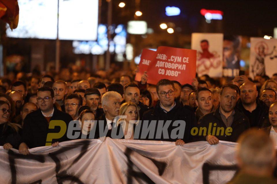 Мицкоски со благодарност до граѓаните: Ова за нив е борба за спас на мафијата, за нас е борба за спас на Македонија