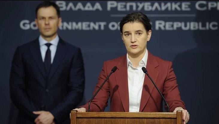 Брнабиќ: Србија од вечерва ги затвара своите граници
