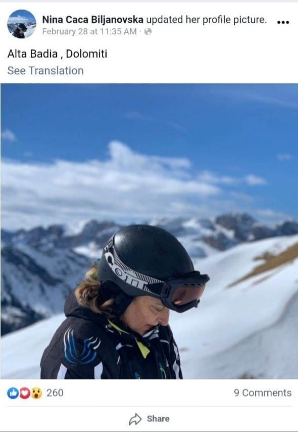Директорката на Клиниката за кожни болести била на скијање во Алта Бадија, а држела и предавање на стотина колеги