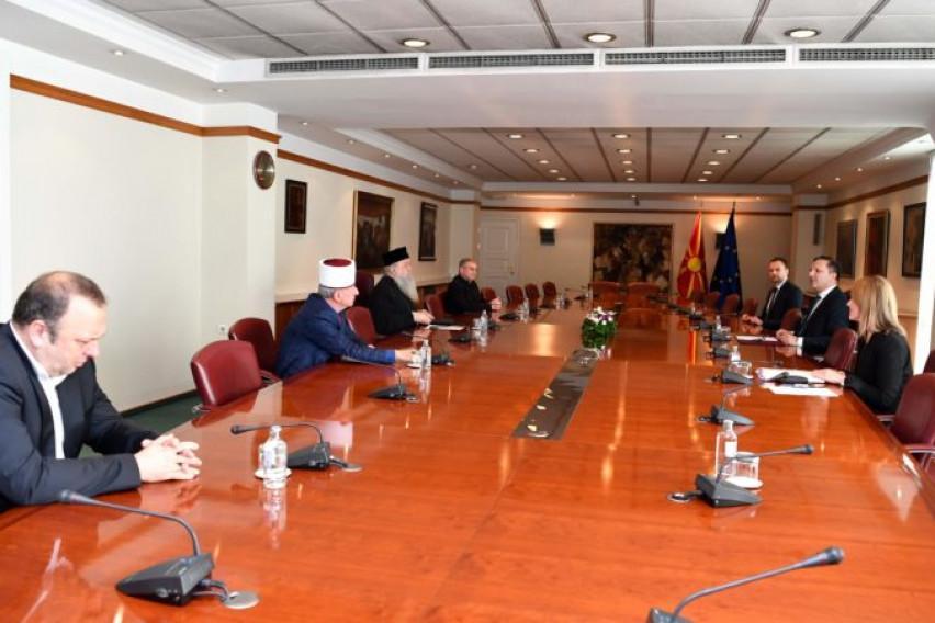 Спасовски се сретна со поглавари на верските заедници во земјата
