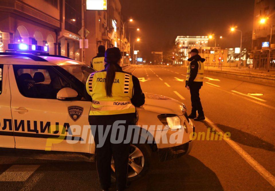 Вкупно 90 лица го прекршиле полицискиот час, 57 се приведени