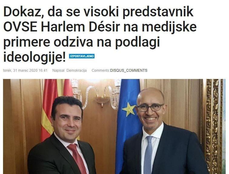 """Словенечка """"Демокрација"""" го повика ОБСЕ да престане да молчи за нападите врз критичките медиуми во Македонија"""