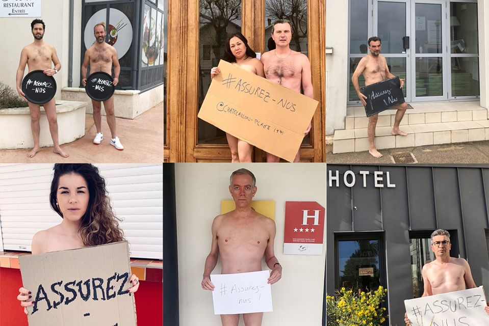Француските хотелиери се соблекоа голи за да го спасат бизнисот